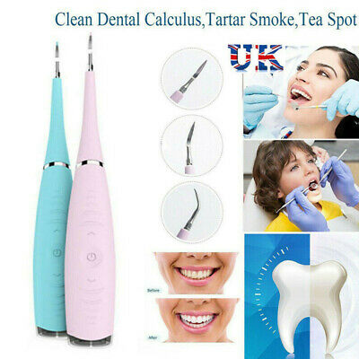 Tooth Stains Tool Dental Scaler Tartar Calculus Plaque Electric Sonic Remover