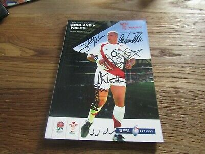 RBS 6 Nations International Rugby Union -England v Wales in 2008 with Autographs