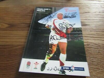 RBS 6 Nations Championship Rugby Union - England v Wales in 2008 with Autographs