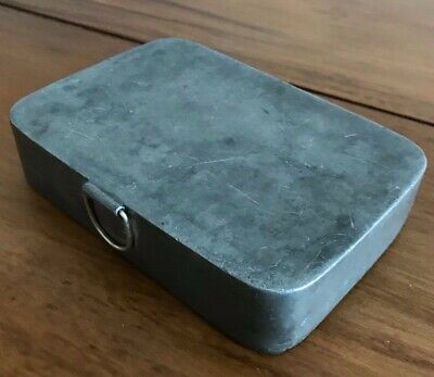 Rare Antique James Dixon & Sons Sheffield Pewter  Hunting Sandwich Box