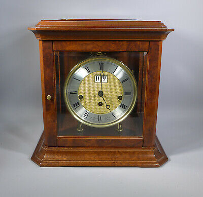 Fine Vintage Franz Hermle Mantle Clock Westminster Chimes On Bells With Date