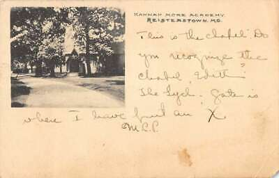 Reisterstown Maryland birds eye view Hannah More Academy antique pc ZC549003