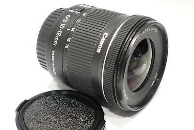 Canon EOS EF-S 10-18mm f4.5-5.6 IS STM Autofocus lens Mint fits DSLR camera EFS
