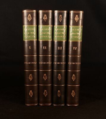 1956 4vol A History of the English-Speaking Peoples Winston S Churchill 1st Ed