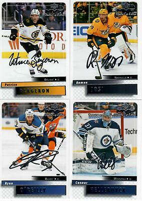 19/20 Ud Mvp Lot Of 4 Silver Script Stanley Cup Edition Hockey Cards Bergeron