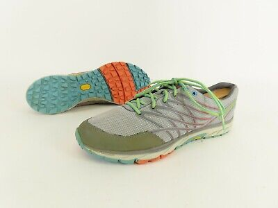 Merrell Light Gray Coral Athletic Running Lace Up Shoes J03924 Women's US 9.5