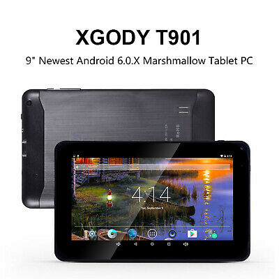 "XGODY 9"" Inch Android 6.0 Quad core 1+16GB Tablet PC Dual Camera Bluetooth WiFi"