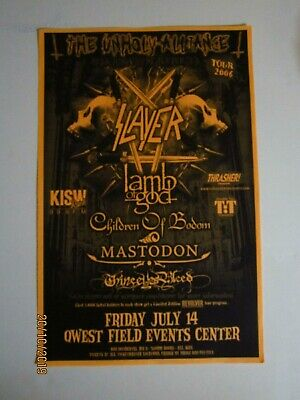 SLAYER / LAMB OF GOD / CHILDREN OF BODOM / MASTODON 2006 Original Concert Poster