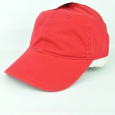 Classic Dad Hat Bright Red Blank Plain Adjustable Hat Cap Curved Bill