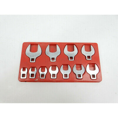 "Snap-On 211FCOA 11pc. 3/8"" Drive SAE Open End Crowfoot Wrench Set (3/8-1"")"