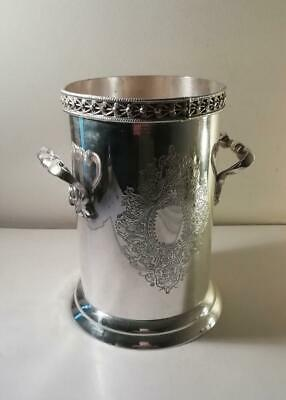 An Antique Silver Plated Wine Bottle / Siphon Holder : c1910