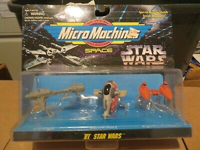 Galoob Micro Machines Star Wars VI 6 Escort Frigate Slave I Cloud Car 1996 MOC