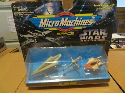 Galoob Micro Machines Star Wars IX 9 A-Wing B-Wing Star Destroyer 1996 MOC