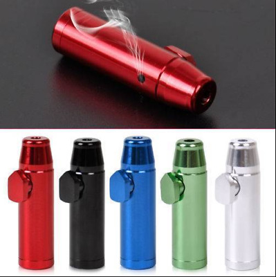 Metal Bullet Shape Portable Aluminum Alloy Easy Clean Mini  Pipe Snuff Bottle