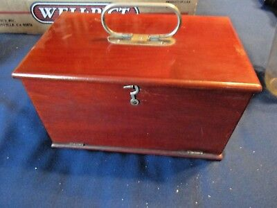 "Medical Apparatus--Antique Quack Doctor Device - Mahogany Case 9"" X 6"" X 5"""