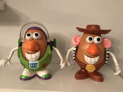Disney Toy Story Mr Potato Head Woody & Buzz Lightyear Figures Playskool 7""