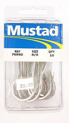 size: 7//0, qty: 10pk Albacore Big Game Mustad 7982H-DT Double Hook M3