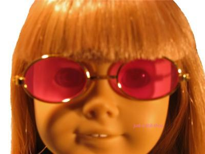 Sunglasses Pink and Gold Fit 18 inch American Girl Doll
