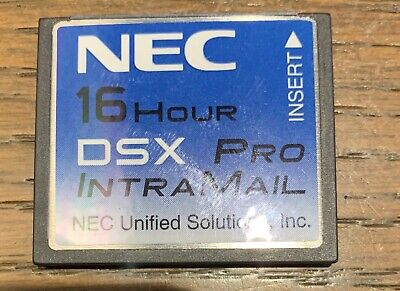 NEC DSX PRO 40 80 160 1091051 Intramail 4 Port 16 Hr Voicemail Flash Voice Mail