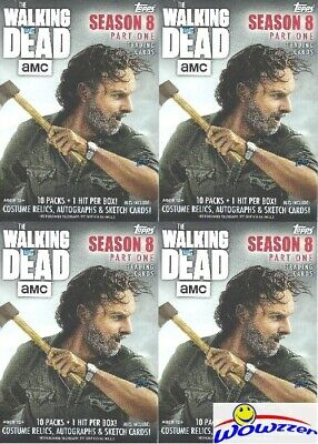 (16) 2018 Topps AMC The Walking Dead Season 8 Factory Sealed Blaster Box-16 HIT