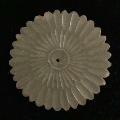 Antique Chinese Carved Flower Medallion