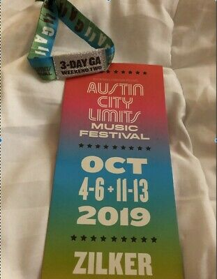 austin city limits 3 Day GA Weekend 2 Tickets - ACL