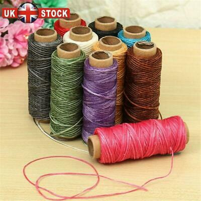 30m/roll Waxed Thread Cotton Cord Hand Stitching Thread for Leather Handicraft