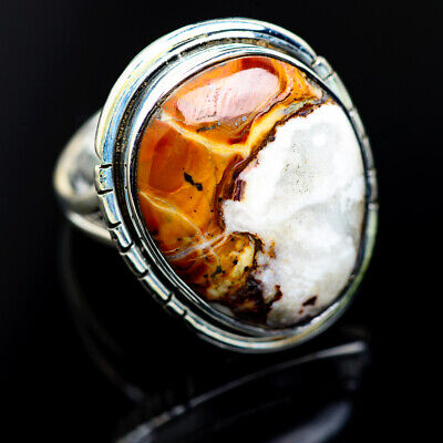 Large Peanut Wood Jasper 925 Sterling Silver Ring Size 9 Ana Co Jewelry R972705F