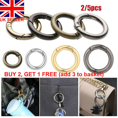 1//2//5X Zinc Alloy Plated Gate Spring Oval Ring Buckles Clips Carabiner Handbags