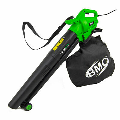BMC 4in1 Leaf Blower Vacuum with 12m Cable 3000w Garden Shredder Vac 35L Blower