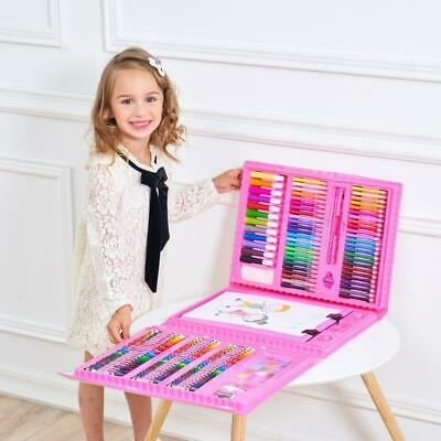 176 Piece Kids Drawing Set Art Paints Colouring School Pencils Crayons Markers