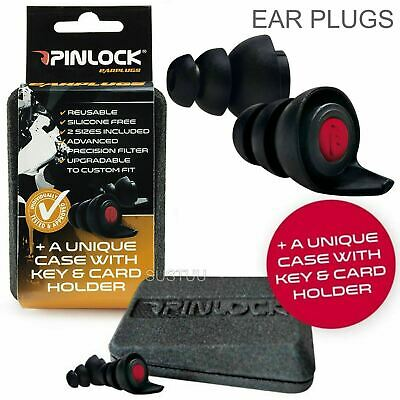 Pinlock Motorcycle Hearing Protectors Ear Plugs│Silicone Free│Reusable│For Biker