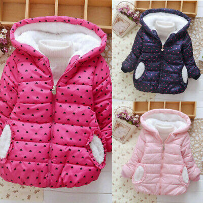 NEW Kids Baby Girl Winter Hooded Coat Cloak Jacket Thick Warm Outerwear Clothes