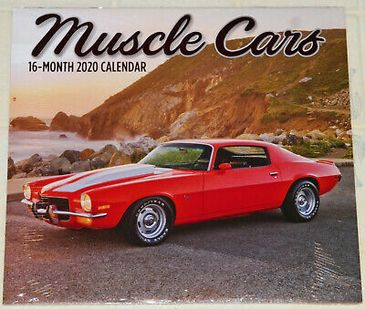 """""""Muscle Cars""""---2020 Factory Sealed 16 Month Wall Calendar--12""""X24""""!!"""