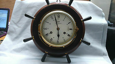 Shatz Royal Mariner 8 Bell Clock complete with winding key Chimes can be on/off