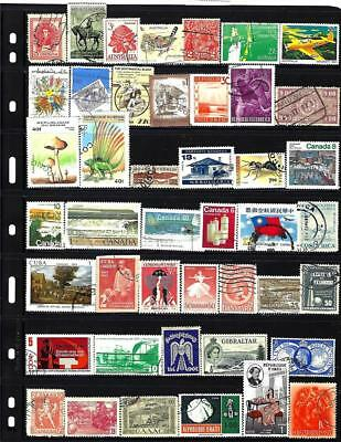 100 All Different World-Wide Stamps From Our Hoard Buy For 3c ea + Free FDC