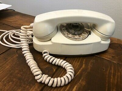 Vtg Western Electric Bell System White Princess Phone Rotary Dial