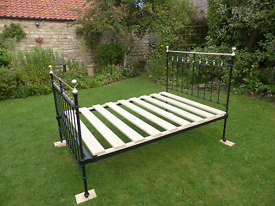Victorian Brass and Cast Iron Double Bed Beautifully Restored.