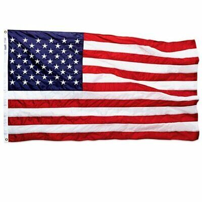 NEW Annin Embroidered American Flag - Multi - Size:3'x5'