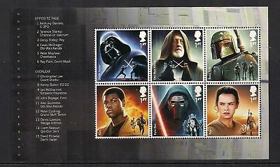 GB 2015 Star Wars~Prestige Stamp Booklet Pane ~1~ex DY15~Unmounted Mint