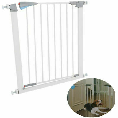US Pet Safety Gate Door Walk Through Child Toddler Pet Metal Easy Locking System
