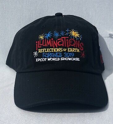 Walt Disney World Epcot Farewell Illuminations 2019 Adult Baseball Cap Hat NWT