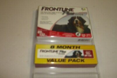 Frontline Plus For Dogs 89-132 Lbs. 8 Month Value Pack New Free Shipping