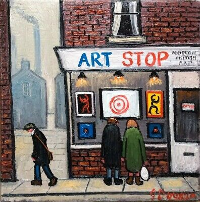 The Old Chip Shop original oil by james downie