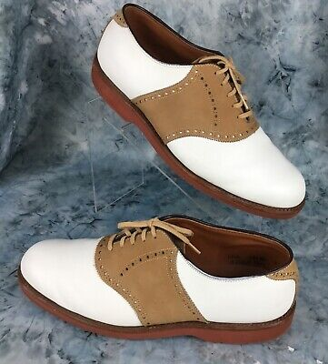 FootJoy Classic Mens Brown,White Leather Saddle Golf Shoes Spike-Less Sz 11.5 E