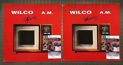 """Lot of 2 Jeff Tweedy WILCO Signed Autograph """" A.M. """" 12x12 Poster Flat JSA"""