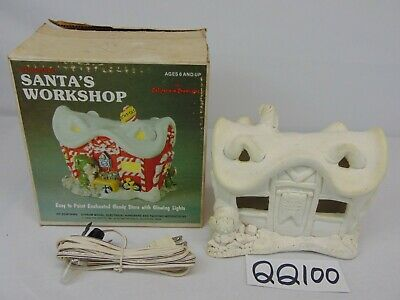 Vintage California Creations Plaster Craft Santa'a Workshop Candy Christmas