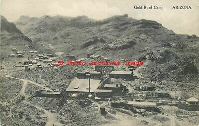 AZ, Gold Road Camp, Arizona, Smelter, Mining Scene, Mine, Oatman, Albertype