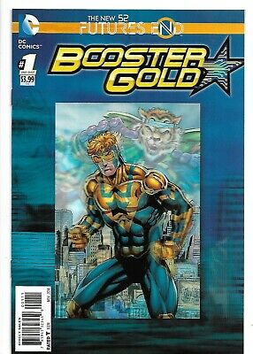 Booster Gold Futures End #1 Lenticular 3D New 52 DC Comics One Shot 9.4