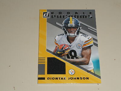 Diontae Johnson 2019 Donruss Rookie Phenoms Rc Worn Jersey Pittsburgh Steelers